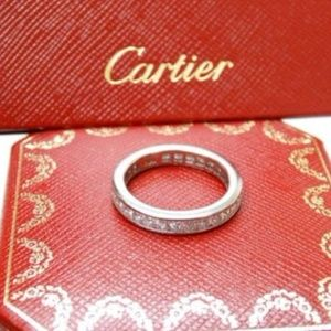 Cartier Platinum Princess Cut Diamond EternityBand